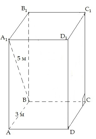 призма, правильна, чотирикутна, площа поверхні, правильная, четырехугольная призма