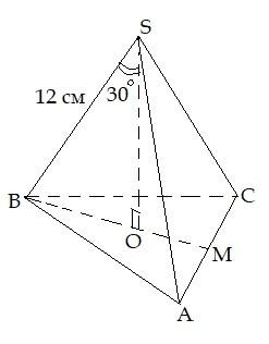 Задача 6 (Обчислення площі повної поверхні піраміди)